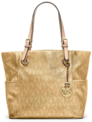MICHAEL Michael Kors Signature Metallic East West Tote