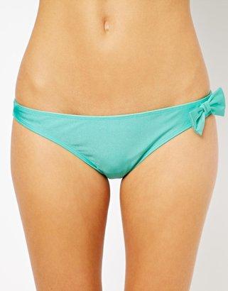 Asos Bow Detail Bikini Pant - Green