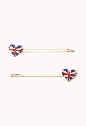 Forever 21 British Heart Hair Pins