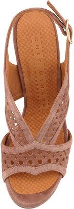 Chie Mihara Crola Cutout Slingback Sandal, Cocoa
