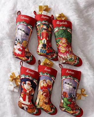 Sferra Needlepoint Christmas Stockings