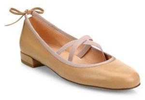 Stuart Weitzman Bolshoi Leather Ballet Flats $375 thestylecure.com