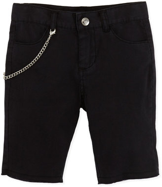 Appaman Punk Chain-Detail Shorts, Black, Boys' 2T-10