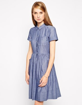 French Connection Charlie Chambray Pocket Dress
