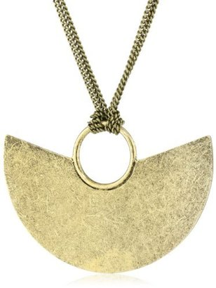 Citrine by the Stones Luna Chain Gold Pendant Necklace