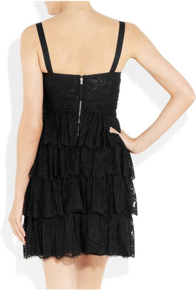 D&G Tiered lace and crepe mini dress