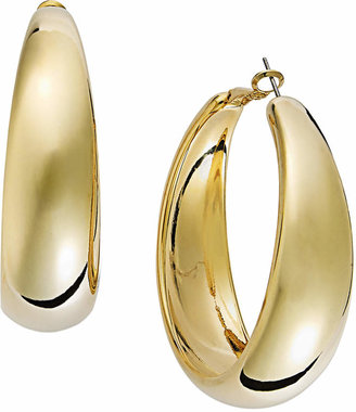 INC International Concepts Gold-Tone Wide Hoop Earrings $19.50 thestylecure.com