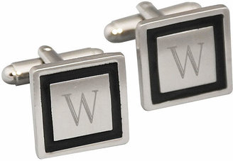 Accessories Engravable Black Cufflinks