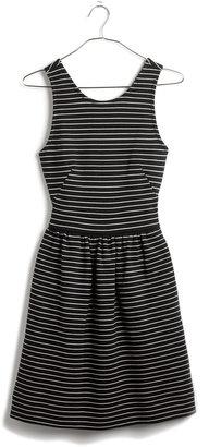 Madewell Pierside Zip-Back Dress in Stripe