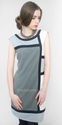 eDressMe Colorblock Sheath Day Dresses