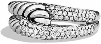 David Yurman Labyrinth Single-Loop Ring with Diamonds