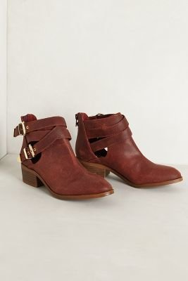 Seychelles Cross-Buckle Booties