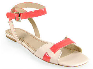 Elizabeth and James Paige - Flat Leather Sandal in Pink