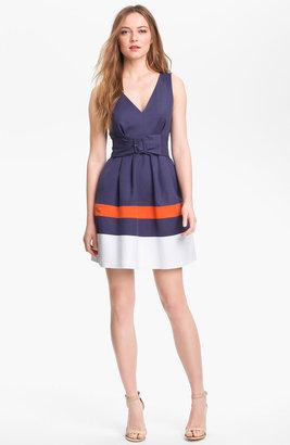 Kate Spade 'sawyer' Cotton Blend Fit & Flare Dress