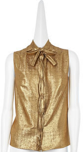 David Szeto Victoria Blouse - Gold