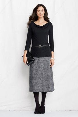 Lands' End Women's Regular Pattern Matte Jersey Pull-on Skirt
