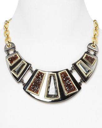 """Carolee Lux Runway Ready Full Frontal Bib Necklace, 18"""""""