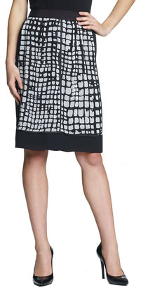 Jones New York Collection Mixed Media A-Line Skirt