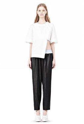 Alexander Wang Asymmetric T-Shirt With Hidden Bra