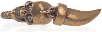 Alexander McQueen Skull and horn detail ring