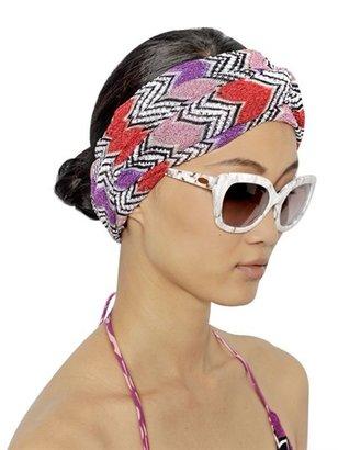 Missoni Lurex Zigzag Viscose Knit Headband