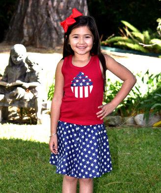 Cupcake Tank & Skirt Set - Infant Toddler & Girls
