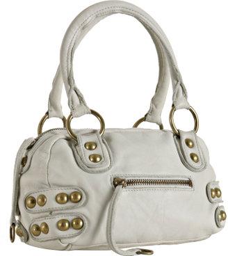 Linea Pelle white leather 'Dylan' speedy bag