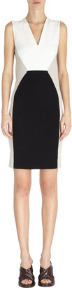 Stella McCartney Cutout-Back Colorblock Sheath