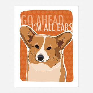 Corgi Pop Doggie Art Print