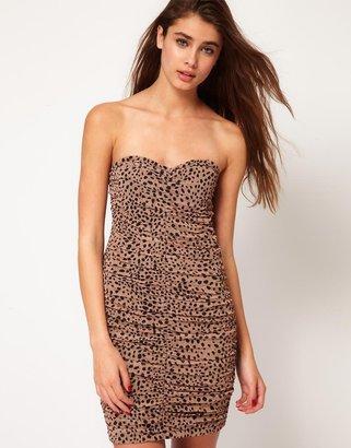 Motel Leopard Bandeau Dress