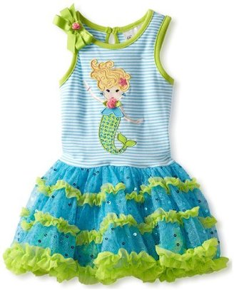 Rare Editions Baby Girls Infant Tutu Dress with Mermaid Applique