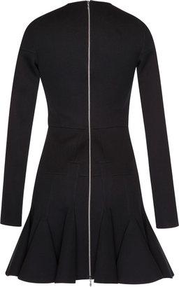 Antonio Berardi Black Jersey Fit And Flare Dress