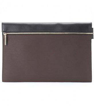 Victoria Beckham Large Zip leather clutch