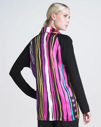 Shamask Striped Silk Top