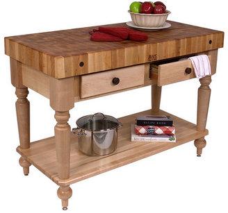 John Boos American Heritage Rustica Butcher Block Table