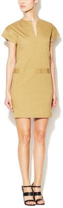 Derek Lam Calvary Cap Sleeve Tunic Dress