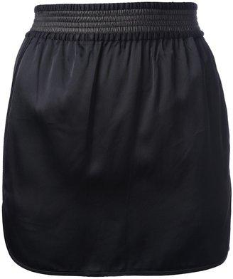 Alexander Wang leather trim skirt