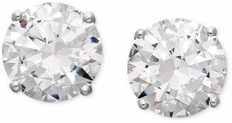 Arabella 14k White Gold Earrings, Swarovski Zirconia Round Stud Earrings (6-5/8 ct. t.w.)