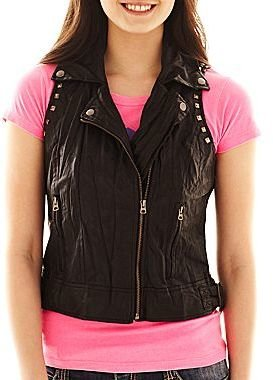 JCPenney Faux Leather Vest