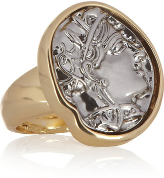Kenneth Jay Lane Gold-plated coin ring