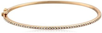 "Judith Jack ""Golden Class"" Sterling Silver and Gold-Tone Pave Crystal Bangle Bracelet $68 thestylecure.com"