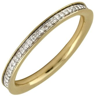 Simply Stacks Sterling Diamonds 18K Gold-Plated2.25mm Band
