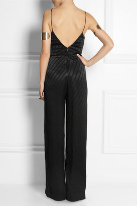 Kate Moss for Topshop Striped satin jumpsuit