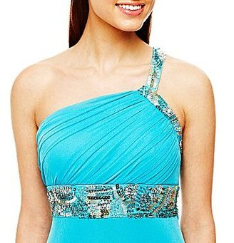 JCPenney Embellished One-Shoulder Dress