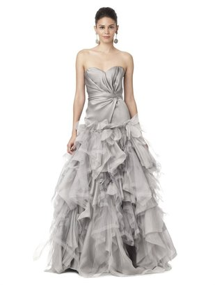 Oscar de la Renta Strapless Gown With Ruched Bodice