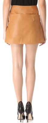 Thierry Mugler Origami Leather Skirt