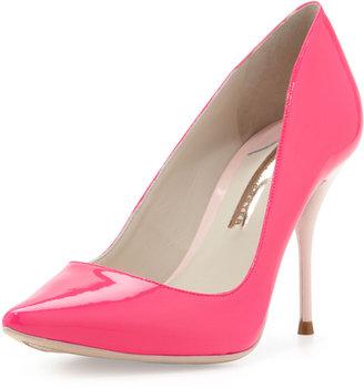 Webster Sophia Lola Glossy Point-Toe Pump, Hot Pink/Blush