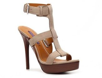 Ralph Lauren Babette Suede Platform Sandal