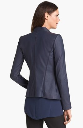 Lafayette 148 New York Ruffled Hem Leather Jacket