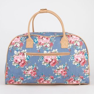 Chambray Floral Duffle Bag